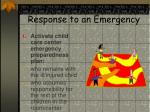 response to an emergency17
