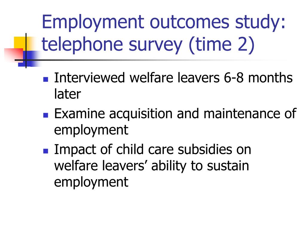Employment outcomes study: telephone survey (time 2)