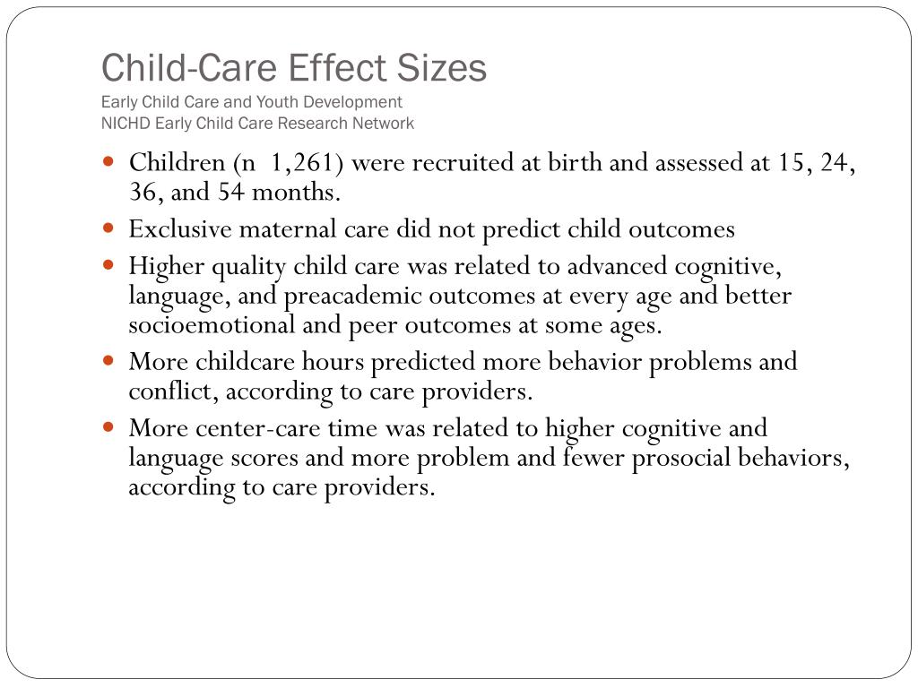 Child-Care Effect Sizes