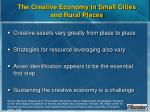 the creative economy in small cities and rural places