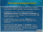 the creative enterprise cluster