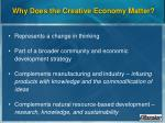 why does the creative economy matter