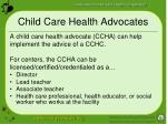 child care health advocates