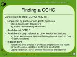 finding a cchc