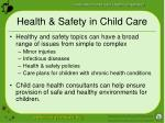 health safety in child care