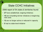 state cchc initiatives