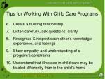 tips for working with child care programs25
