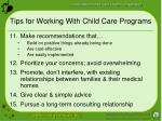 tips for working with child care programs26