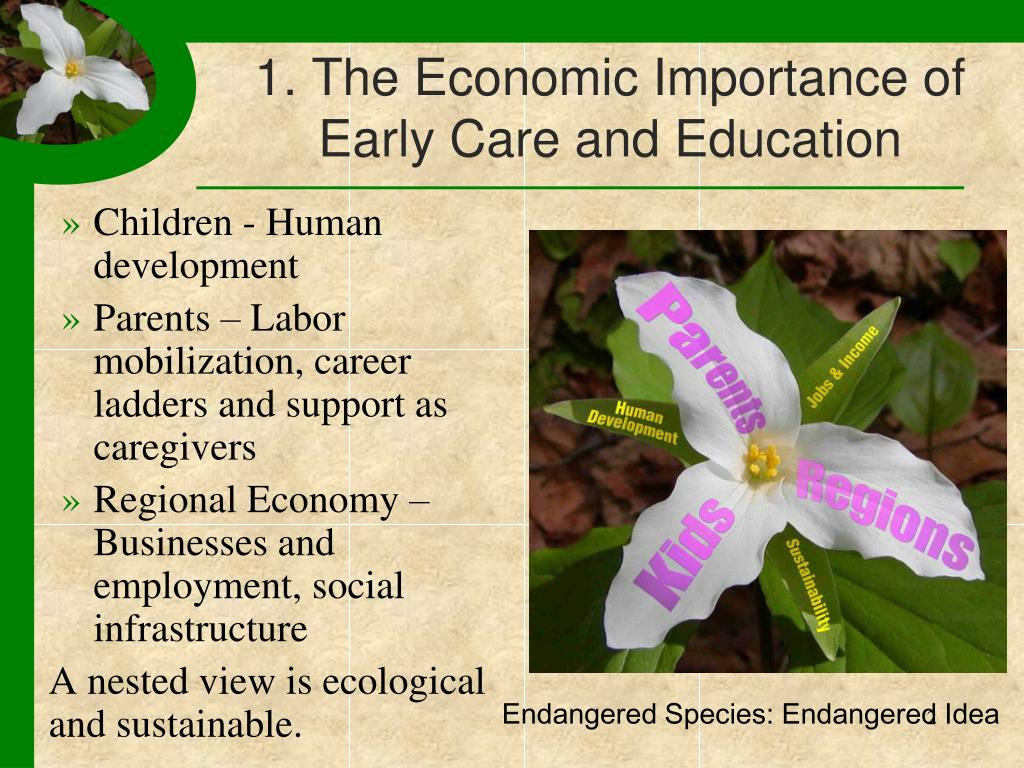 1. The Economic Importance of Early Care and Education