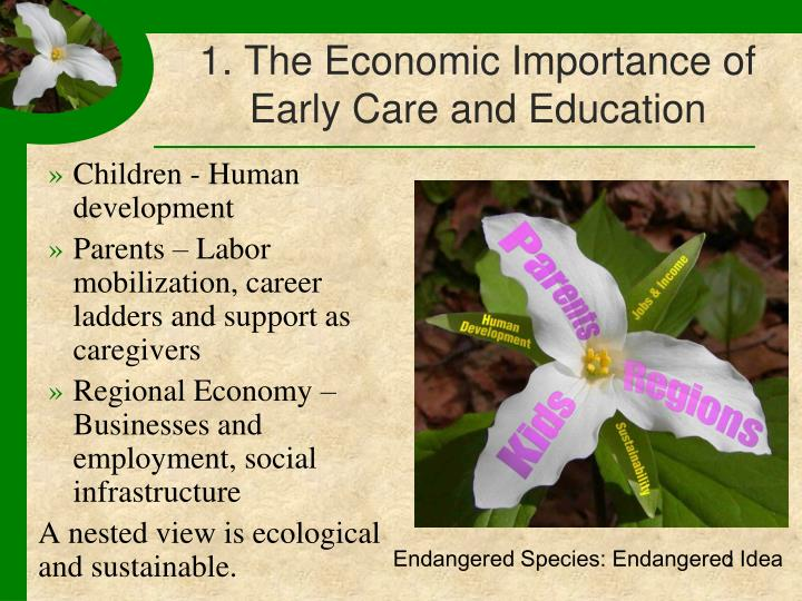 1 the economic importance of early care and education