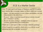 ece is a market sector