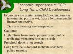 economic importance of ece long term child development