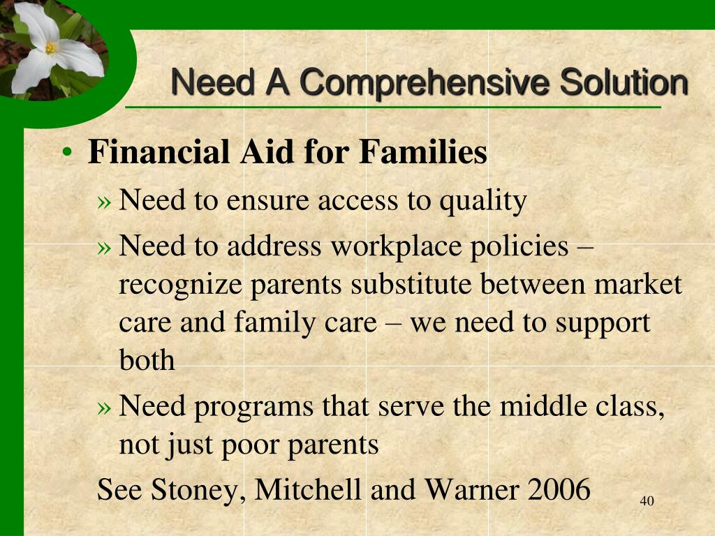 Need A Comprehensive Solution