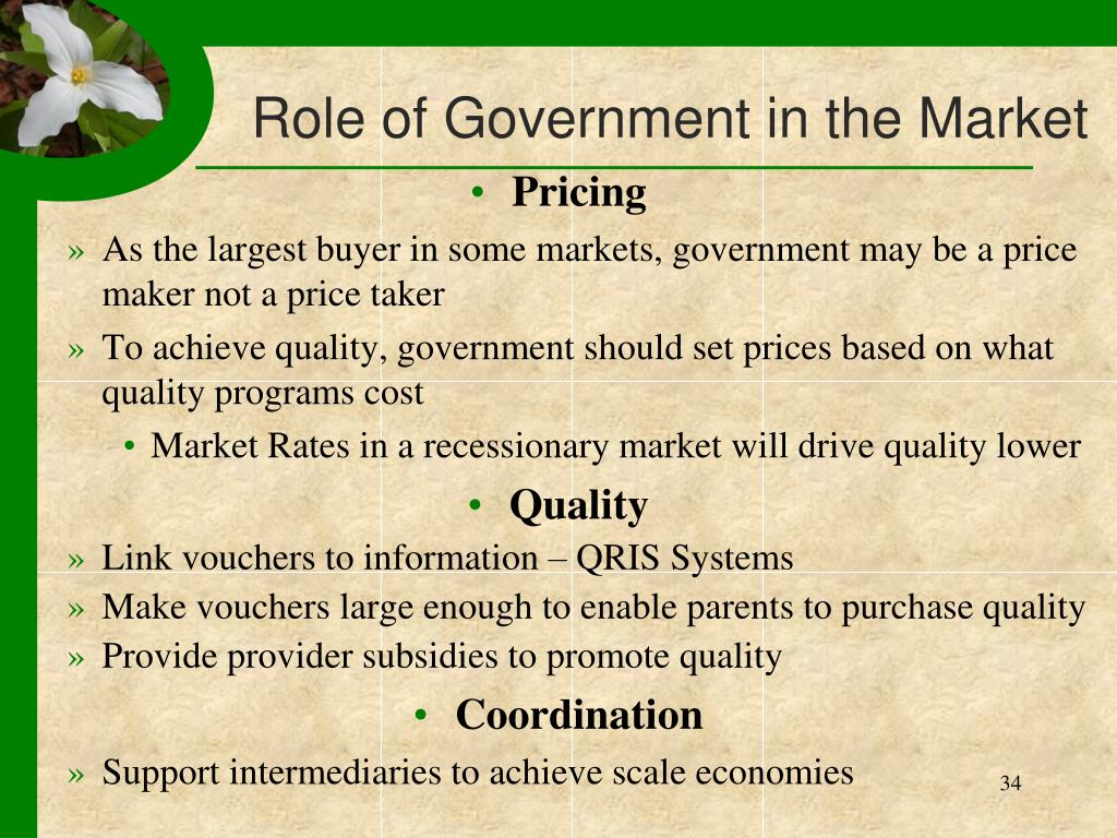 Role of Government in the Market