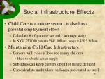 social infrastructure effects