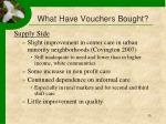 what have vouchers bought