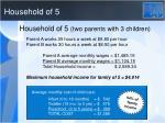 household of 5