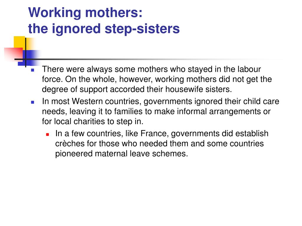 Working mothers: