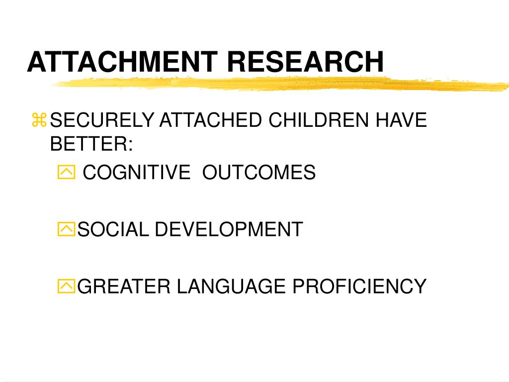 ATTACHMENT RESEARCH