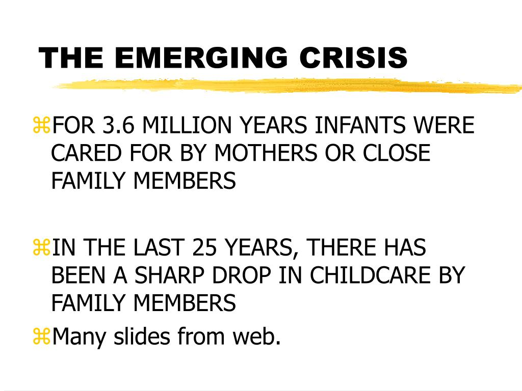 the emerging crisis l.