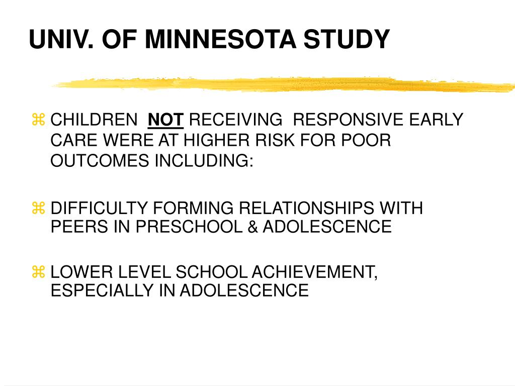 UNIV. OF MINNESOTA STUDY