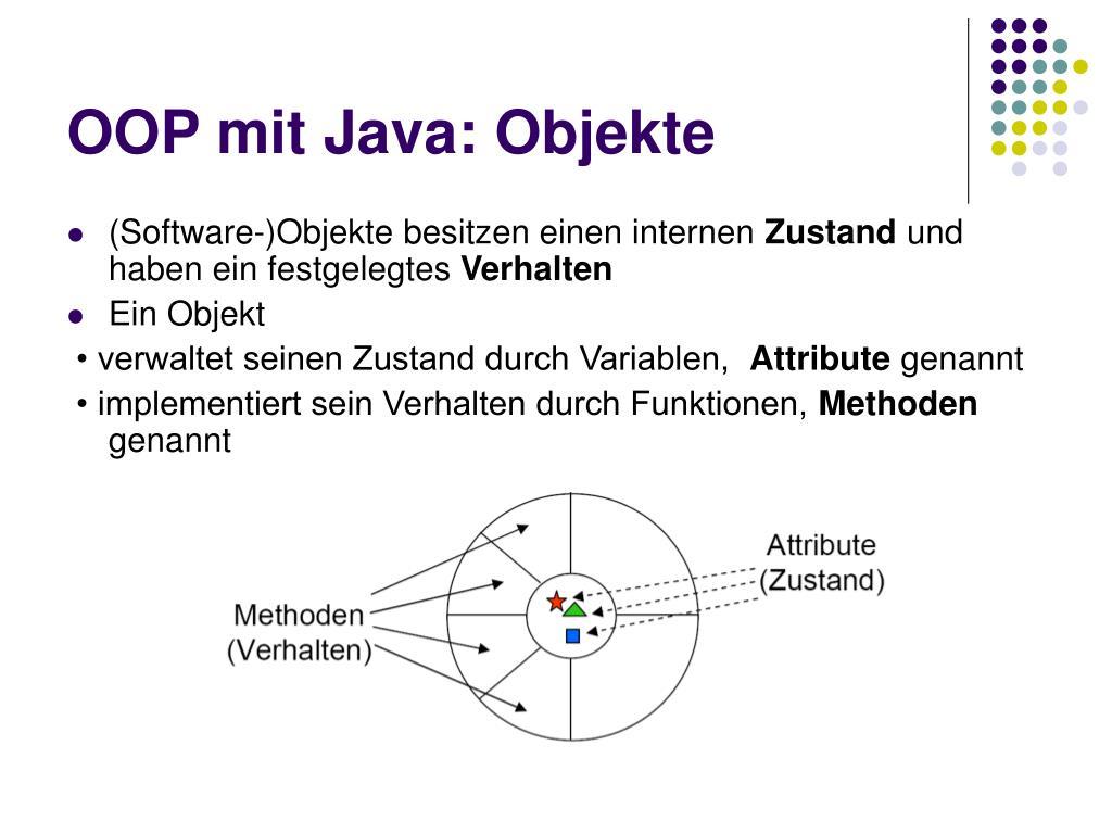 OOP mit Java: Objekte