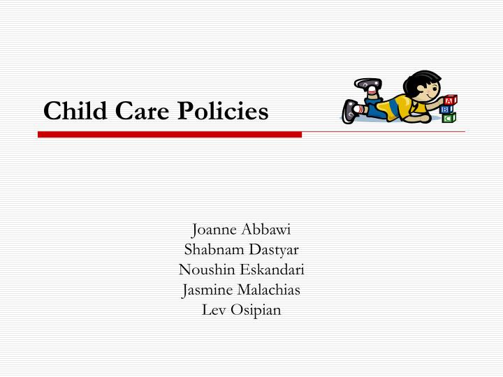 child care policies n.