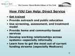 how you can help direct service