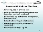 treatment of addictive disorders