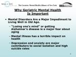 why geriatric mental health is important