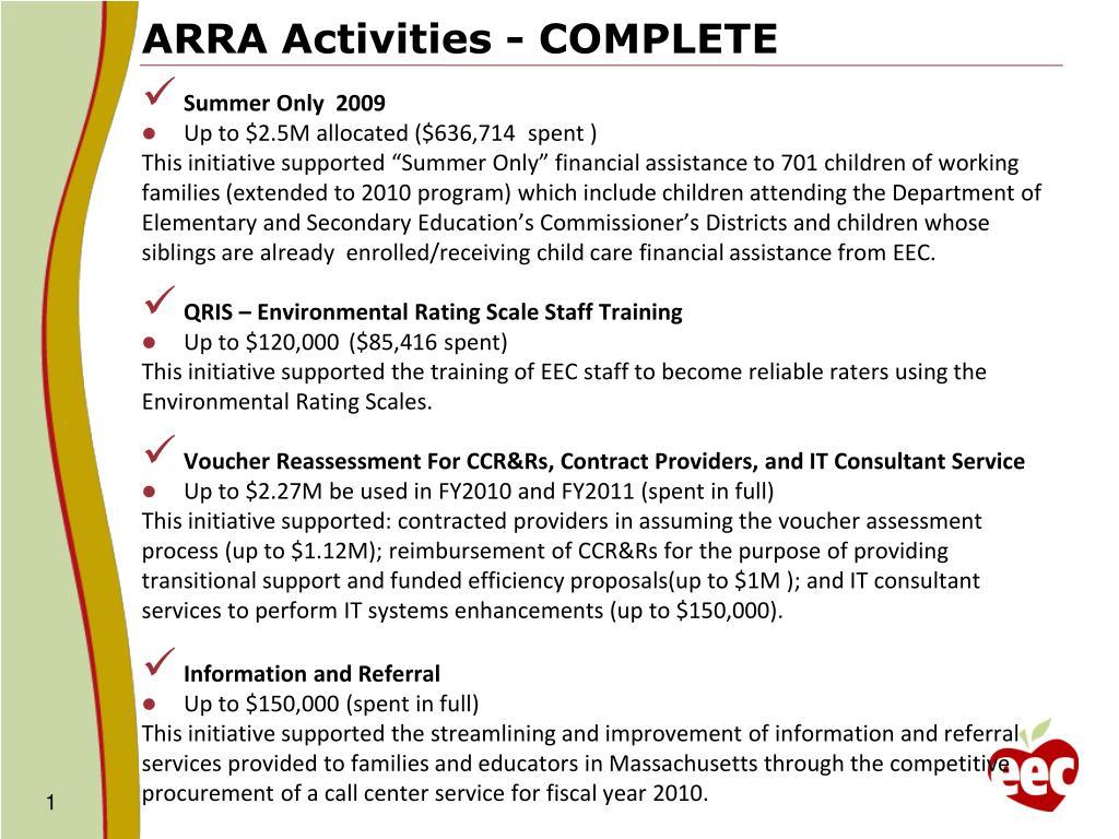 ARRA Activities - COMPLETE