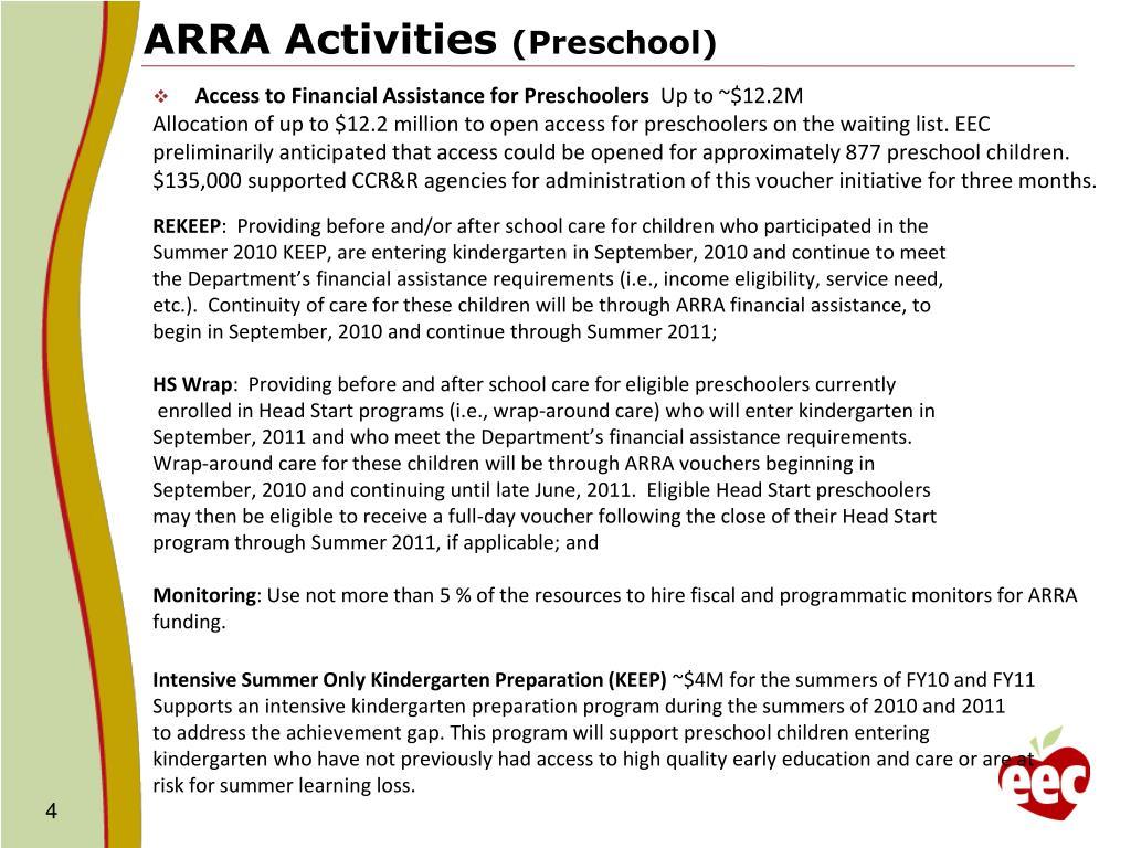 ARRA Activities