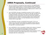 arra proposals continued