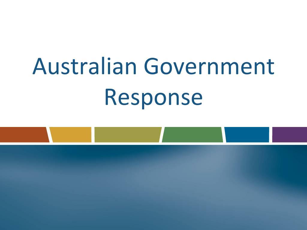 Australian Government Response