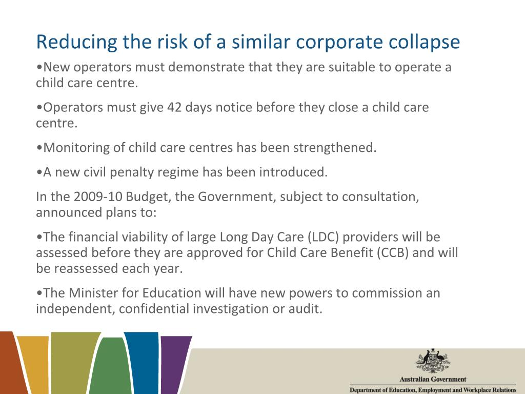 Reducing the risk of a similar corporate collapse