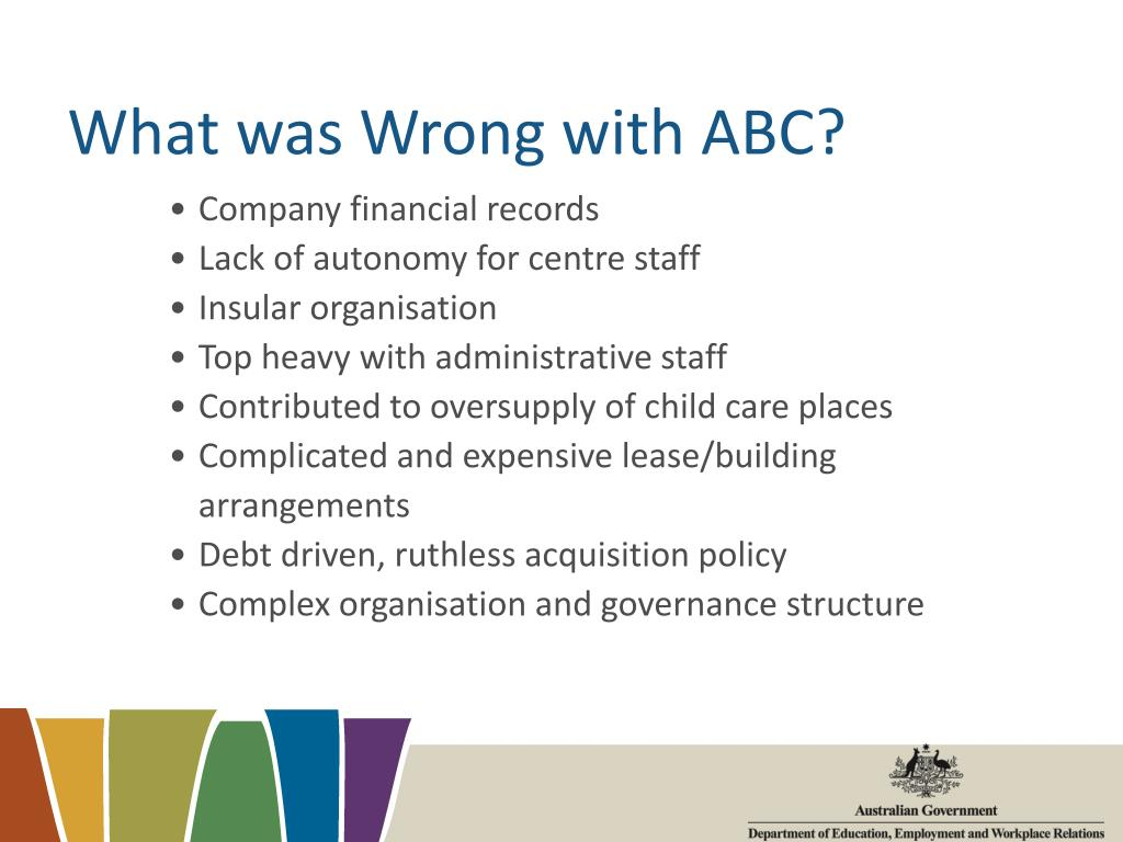 What was Wrong with ABC?