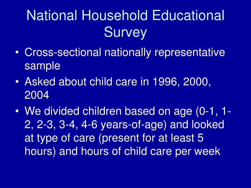 National Household Educational Survey