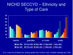 nichd seccyd ethnicity and type of care