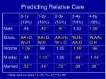 predicting relative care