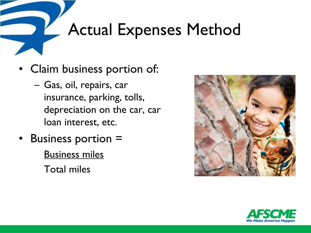 Actual Expenses Method
