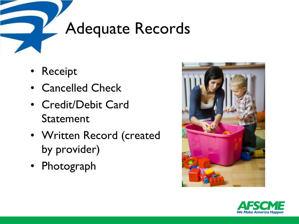 Adequate Records