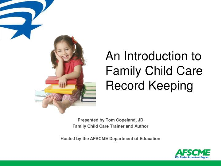 An introduction to family child care record keeping