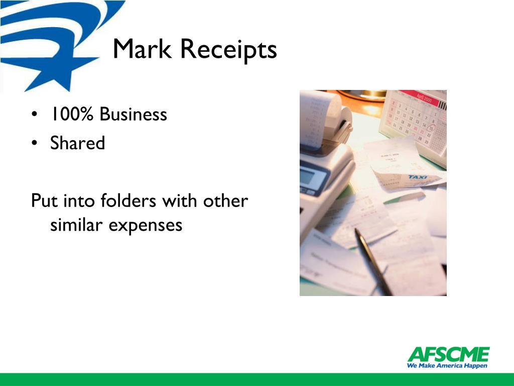 Mark Receipts