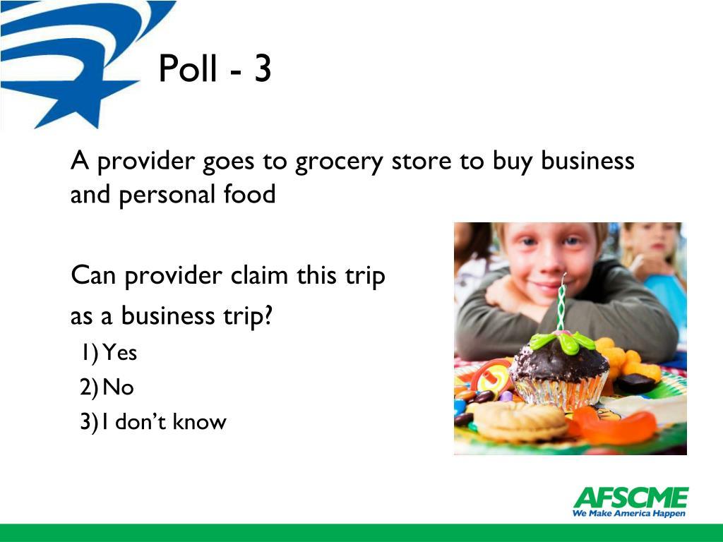 Poll - 3