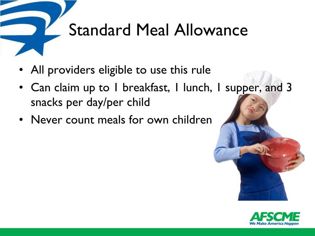Standard Meal Allowance