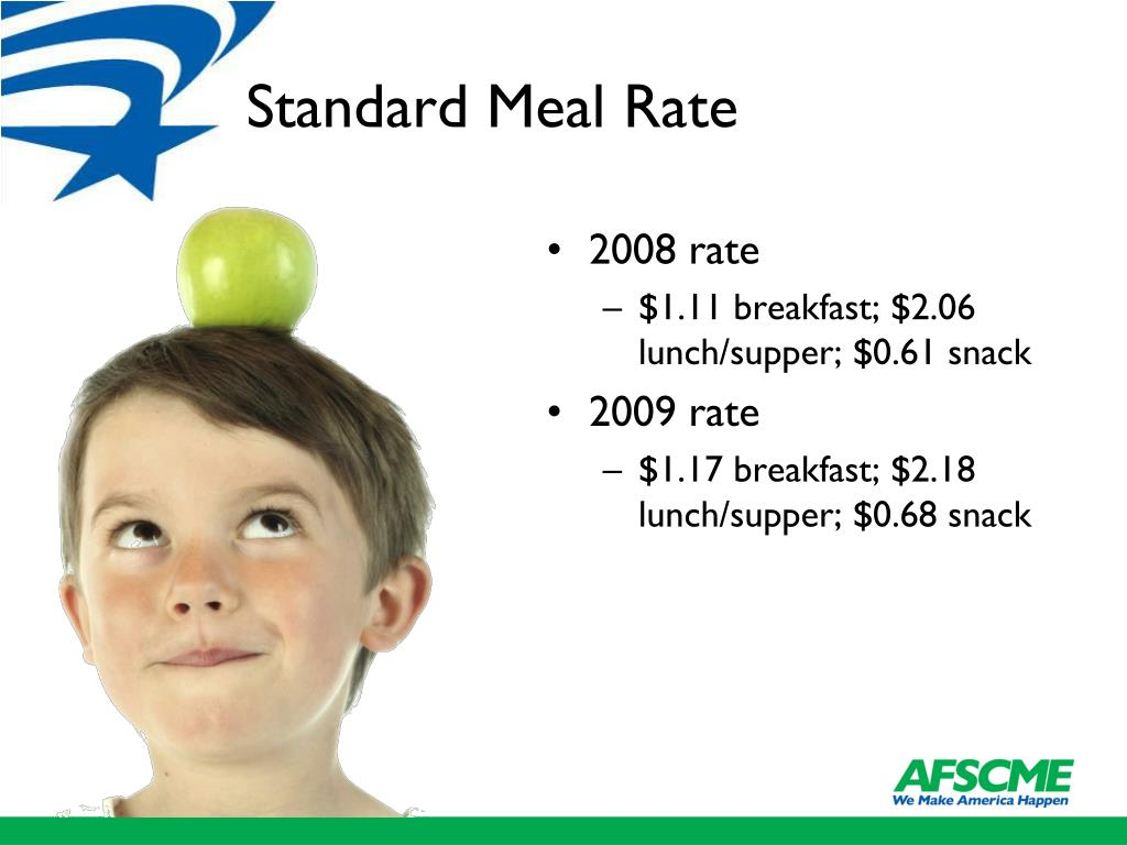 Standard Meal Rate