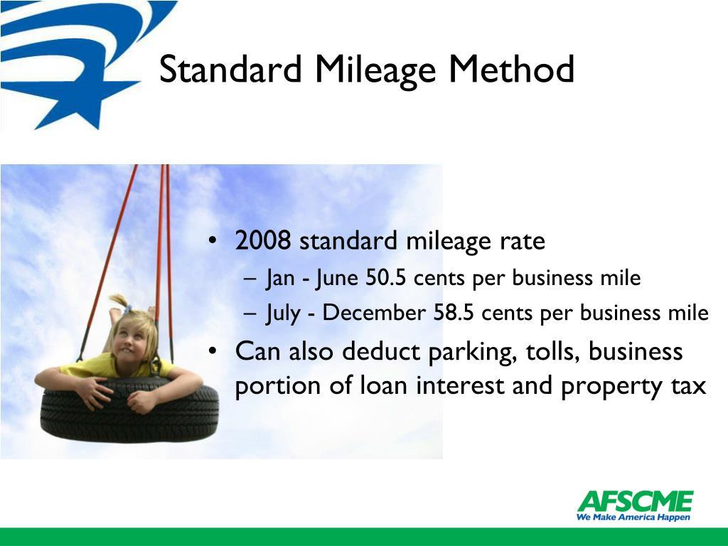 Standard Mileage Method