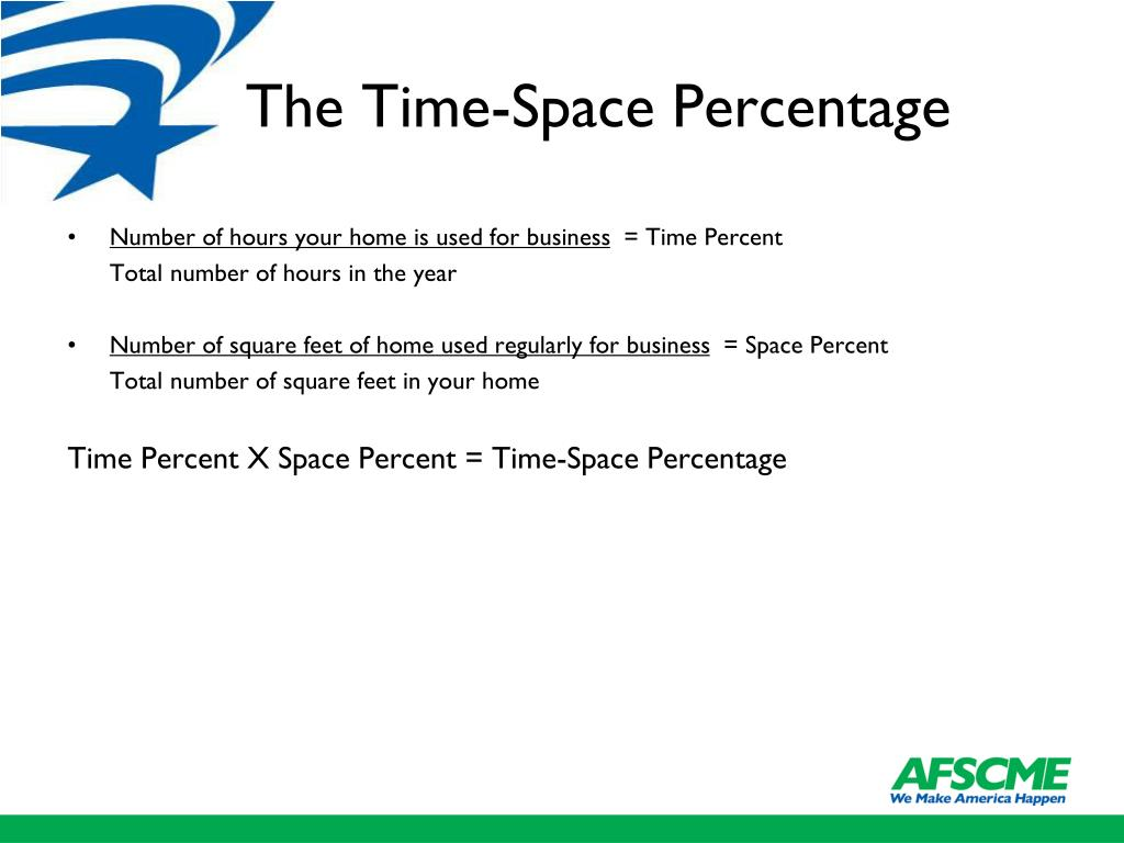The Time-Space Percentage