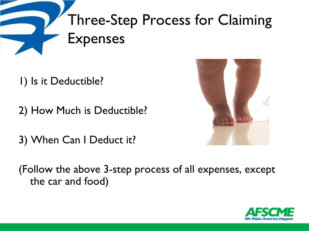 Three-Step Process for Claiming Expenses