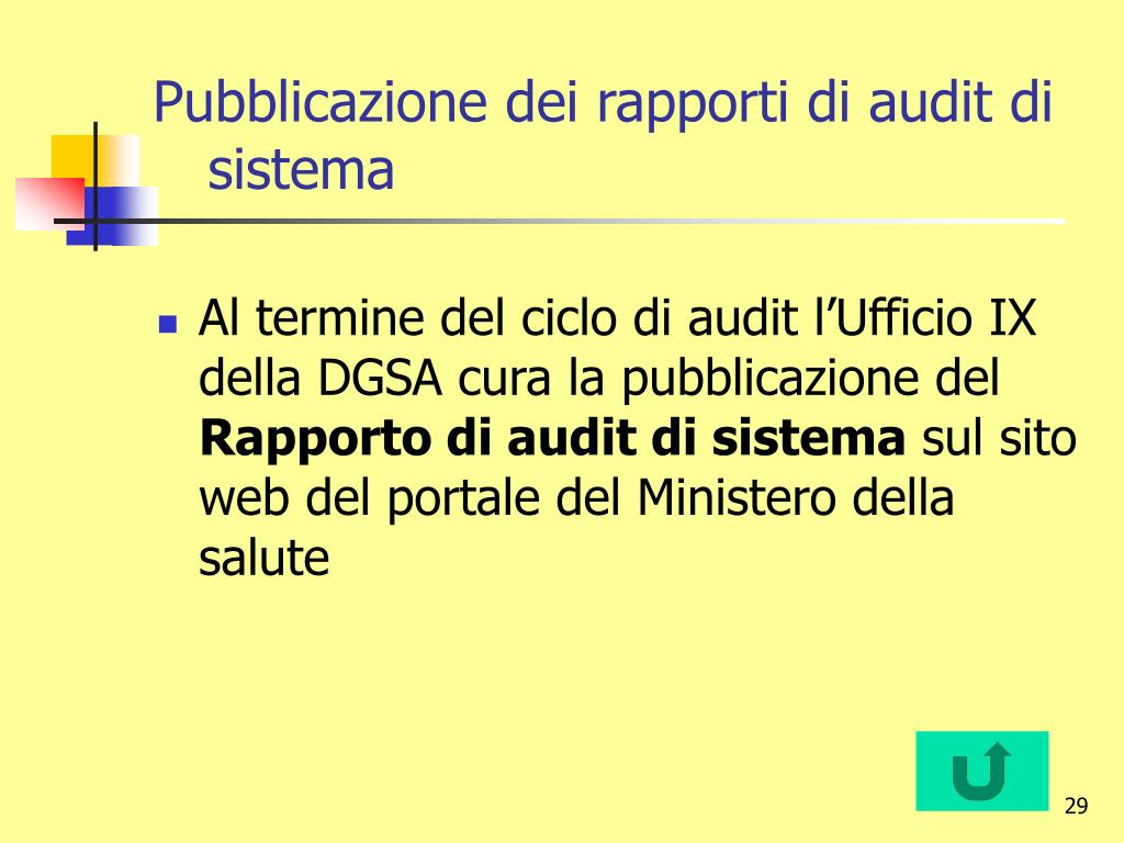 Pubblicazione dei rapporti di audit di sistema
